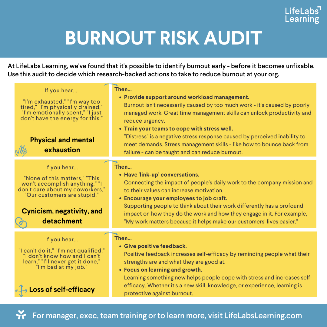 Burnout Risk Audit update b20200727